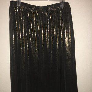 Shimmery Gold and Black Snake Skin Print 1X Skirt
